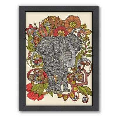 Americanflat Valentina Ramos Bo The Elephant Digital Print Wall Art with Black Frame