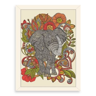 Americanflat Valentina Ramos Bo The Elephant Digital Print Wall Art with White Frame