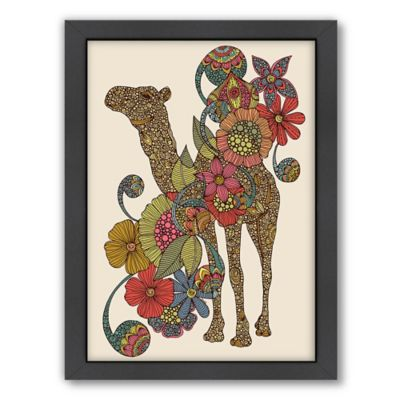 Americanflat Valentina Ramos Easy Camel Digital Print Wall Art with Black Frame