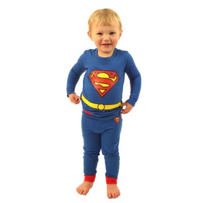 DC Comics Size 2T Superman Logo 2-Piece PJ Set