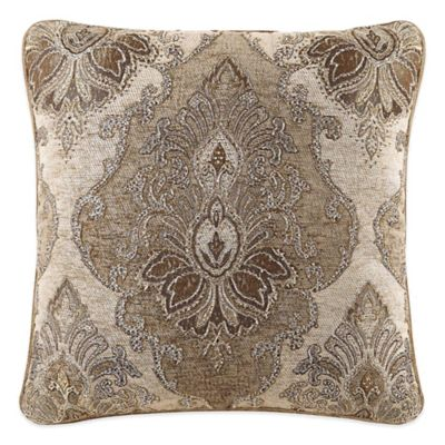 J. Queen New York Woodbury Damask Square Throw Pillow