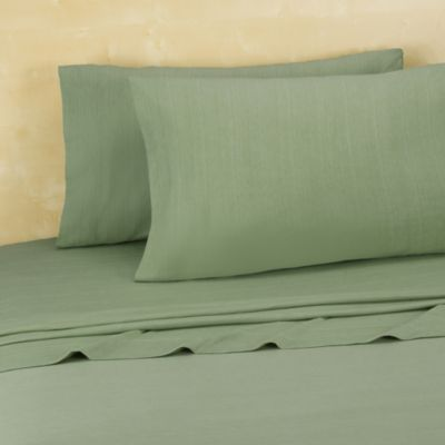 Brooklyn Flat Extra Soft Jersey Full Sheet Set in Green