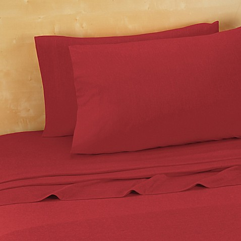 Buy brooklyn flat extra soft jersey queen sheet set in red for How to buy soft sheets