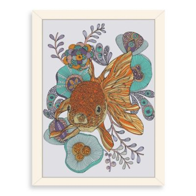 Americanflat Valentina Ramos Little Fish Digital Print Wall Art with White Frame