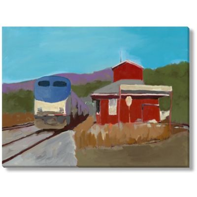 M. Drake At the Station II Canvas Wall Art