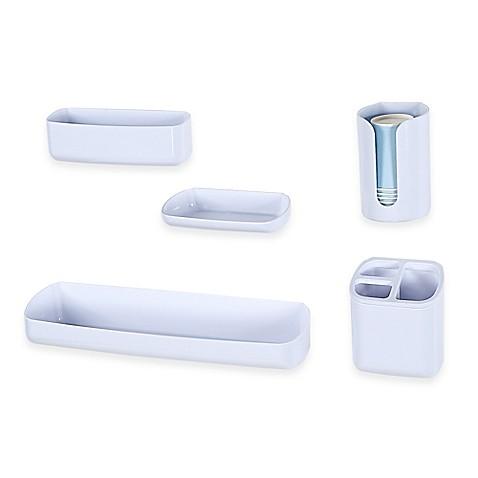 Interdesign affixx bathroom organizer collection bed for Bathroom accessories organizer