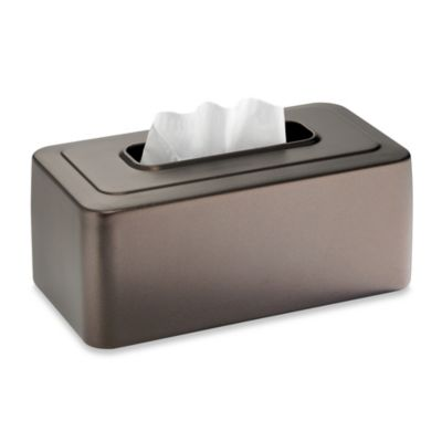 InterDesign® Glossy Tissue Box Cover in Black