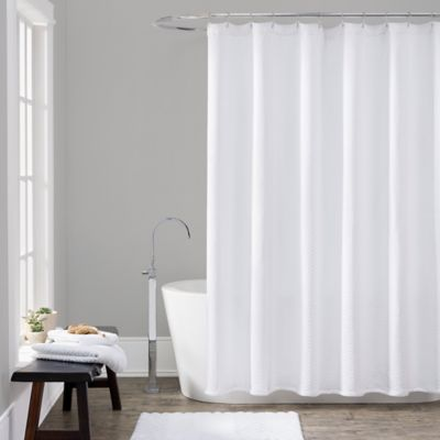 72 x 72 White Shower Curtain