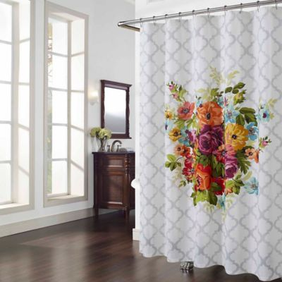 Floral Bath Curtains