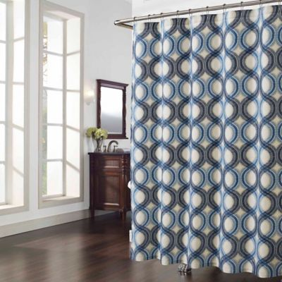 Elements Shower Curtain in Blue