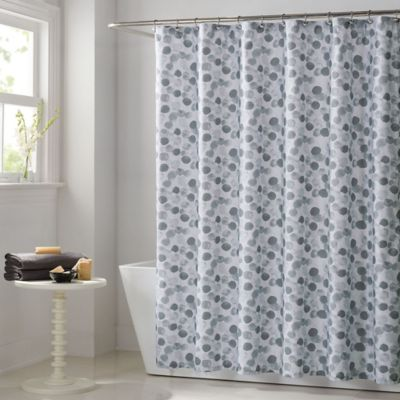 Keeco Watercolor Dots Shower Curtain in Grey