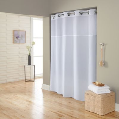 Hookless White Shower Curtain