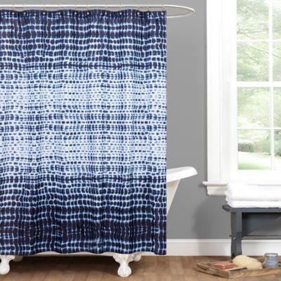 Arney Tye Dye Shower Curtain in Indigo
