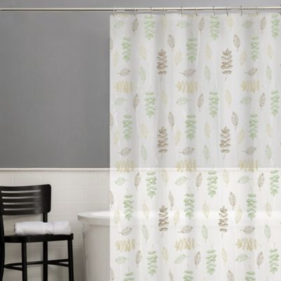 Foliage PEVA Shower Curtain in Sage