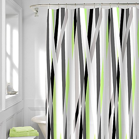 Axis Shower Curtain In Silver