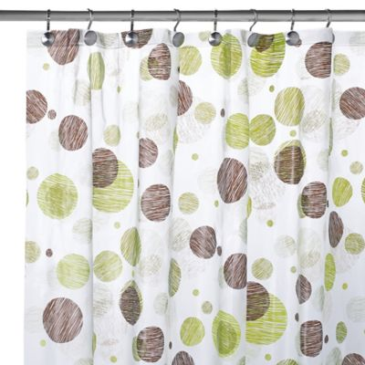 PEVA Textured Circles Shower Curtain