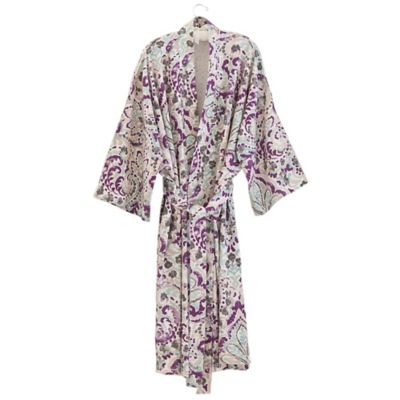 Under the Canopy® Organic Cotton Kimono Bathrobe in Teal