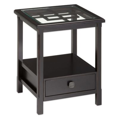 Bombay Greek Key End Table
