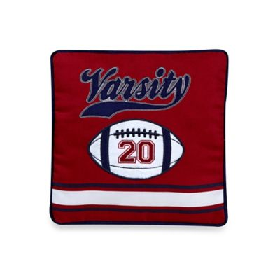 Rugby Square Throw Pillow