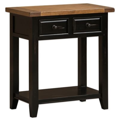 Hillsdale Tuscan Retreat® 2-Drawer Hall Console Table in Black/Oxford