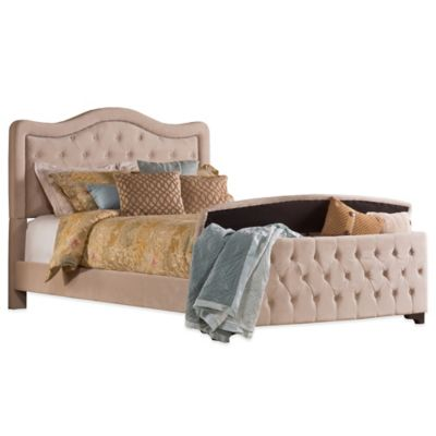 Hillsdale Trieste Queen Storage Footboard Bed in Pewter