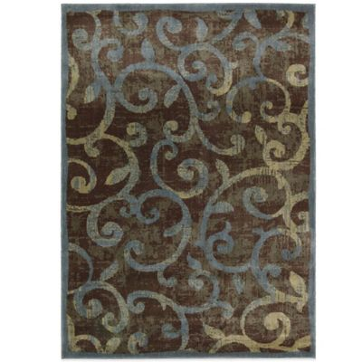 Chocolate and Blue Area Rugs