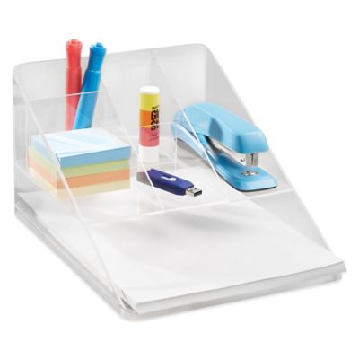 Linus Clear Desk Organizer