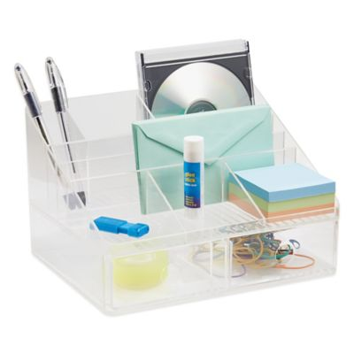 InterDesign® Linus Clear 2-Drawer Desk Organizer