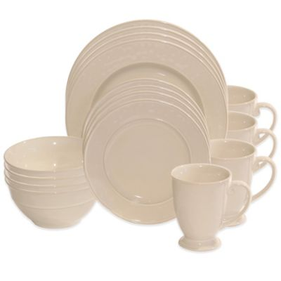 Baum Wellington 16-Piece Dinnerware Set in Ivory