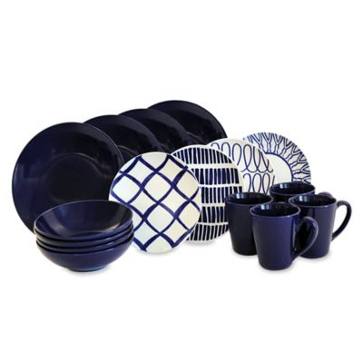 Cobalt/White Casual Dinnerware