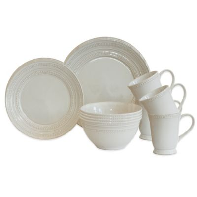 Baum Darby 16-Piece Dinnerware Set in Ivory