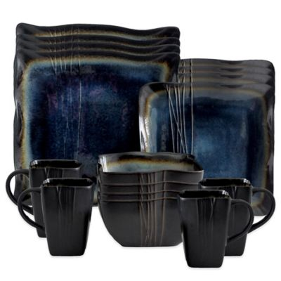 Blue Square Dinnerware Sets