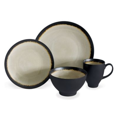 Baum Galaxy Coupe 16-Piece Dinnerware Set in Sand