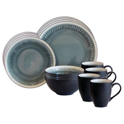 Baum Reactive Lines 16-Piece Dinnerware Set in Grey