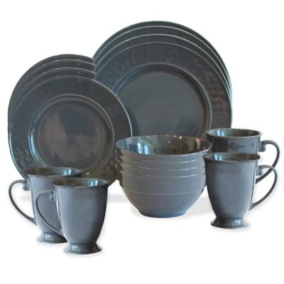 Baum Wellington 16-Piece Dinnerware Set in Charcoal