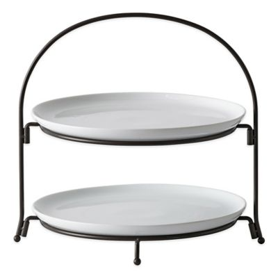 B. Smith 2-Tier Serving Set with Plates