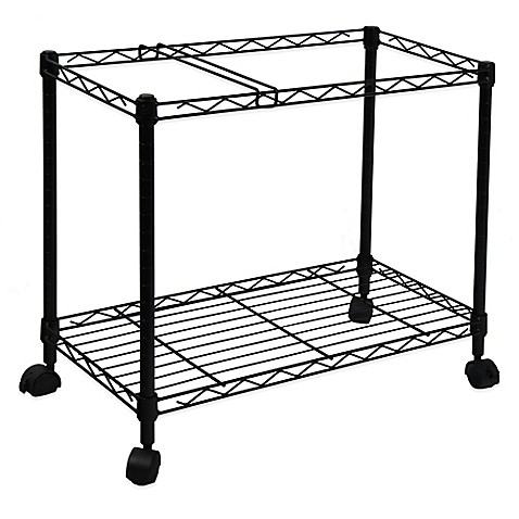 Buy Oceanstar Portable 1-Tier Metal Rolling File Cart in