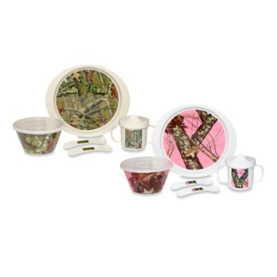 Mossy Oak Break Up Infinity® Children's 5-Piece Dinnerware Set in Pink