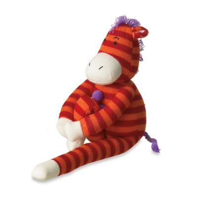 Zelda the Knit Zebra Plush Toy