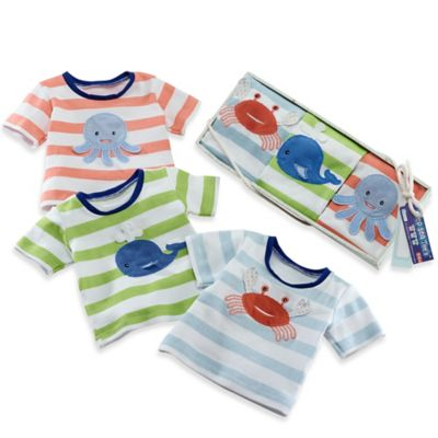 Baby Aspen Size 0-6M 3-Pack Deep Sea Beach T-Shirt