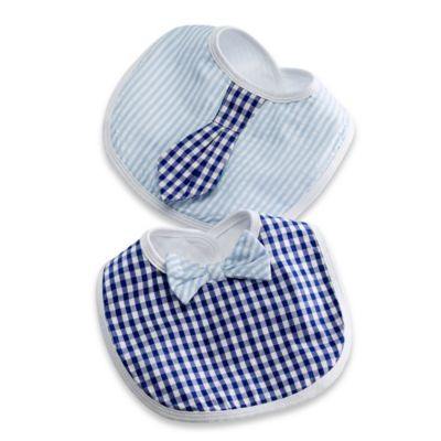 Baby Aspen 2-Piece Little Man Bib Gift Set in Blue