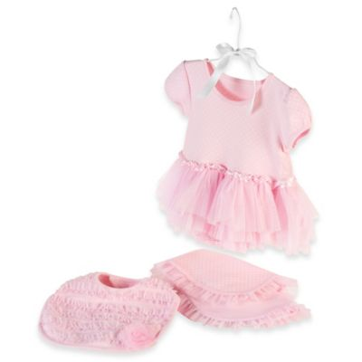 Baby Aspen Size 0-6M 3-Piece Little Princess Gift Set in Pink