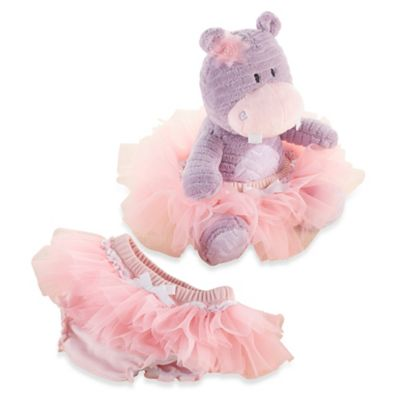 Baby Aspen Lady Lulu and Baby's Tutu Plush Hippo and Bloomer