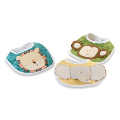 Baby Aspen 3-Pack On Safari Bib Set