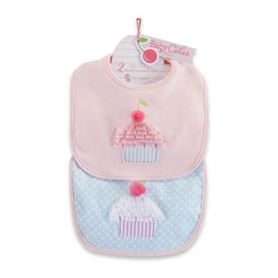 Baby Aspen 2-Pack Cakes Bib Gift Set in Pink/Blue