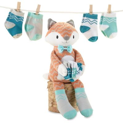 Baby Aspen Mr. Fox in Socks Plush and Sock Set