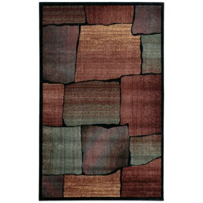 Nourison Expressions Squares 3-Foot 6-Inch x 5-Foot 6-Inch Area Rug in Multicolor