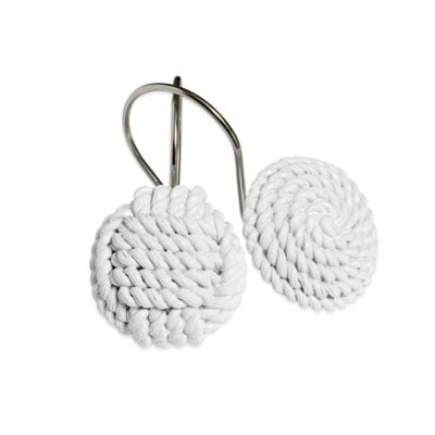 Rope Shower Curtain Hooks (Set of 12)