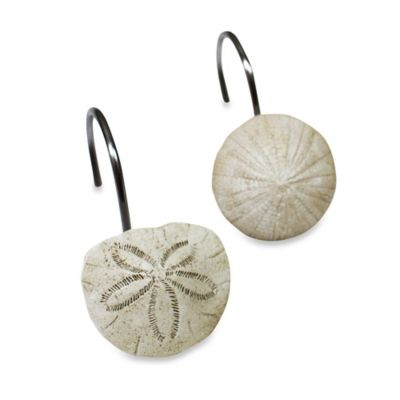 Sand Dollar Shower Curtain Hooks (Set of 12)
