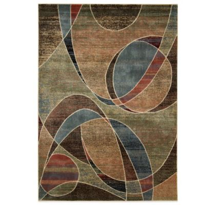 Nourison Expressions Abstract 5-Foot 3-Inch x 7-Foot 5-Inch Area Rug in Multicolor